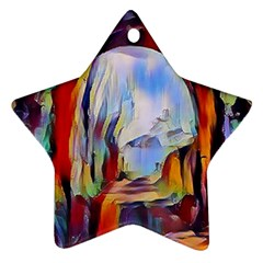 Abstract Tunnel Star Ornament (two Sides)