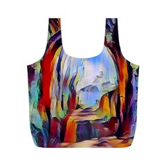 Abstract Tunnel Full Print Recycle Bags (m)