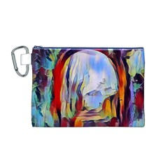 Abstract Tunnel Canvas Cosmetic Bag (m)