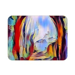 Abstract Tunnel Double Sided Flano Blanket (mini)