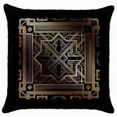 Art Nouveau Throw Pillow Case (black)