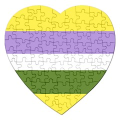 Bin Stripes Jigsaw Puzzle (heart)