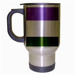 Bin Stripes Travel Mug (silver Gray)