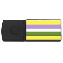 Bin Stripes Rectangular Usb Flash Drive