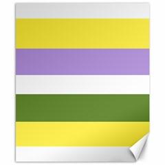 Bin Stripes Canvas 8  X 10