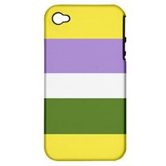 Bin Stripes Apple Iphone 4/4s Hardshell Case (pc+silicone)