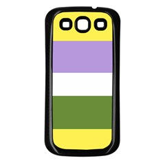 Bin Stripes Samsung Galaxy S3 Back Case (black)