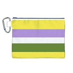 Bin Stripes Canvas Cosmetic Bag (l)