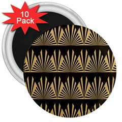 Art Deco 3  Magnets (10 Pack)