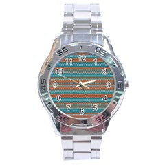 Winter Pattern 1 Stainless Steel Analogue Watch