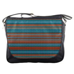 Winter Pattern 1 Messenger Bags