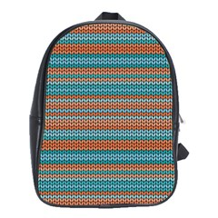 Winter Pattern 1 School Bag (xl)