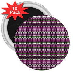 Winter Pattern 2 3  Magnets (10 Pack)