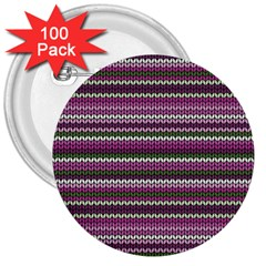 Winter Pattern 2 3  Buttons (100 Pack)