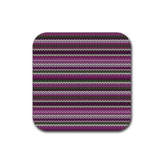 Winter Pattern 2 Rubber Square Coaster (4 Pack)