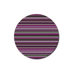 Winter Pattern 2 Rubber Round Coaster (4 Pack)