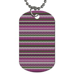 Winter Pattern 2 Dog Tag (two Sides)