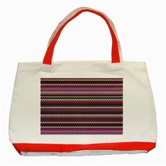 Winter Pattern 2 Classic Tote Bag (red)