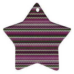 Winter Pattern 2 Star Ornament (two Sides)