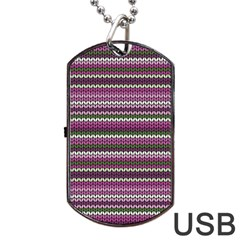 Winter Pattern 2 Dog Tag Usb Flash (one Side)