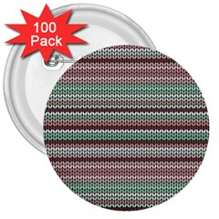 Winter Pattern 3 3  Buttons (100 Pack)