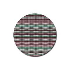Winter Pattern 3 Rubber Coaster (round)