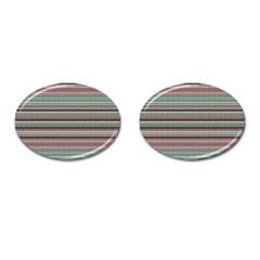 Winter Pattern 3 Cufflinks (oval)