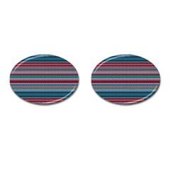 Winter Pattern 4 Cufflinks (oval)