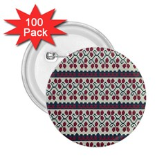 Winter Pattern 5 2 25  Buttons (100 Pack)