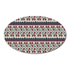 Winter Pattern 5 Oval Magnet