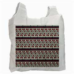 Winter Pattern 5 Recycle Bag (two Side)