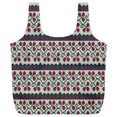 Winter Pattern 5 Full Print Recycle Bags (l)