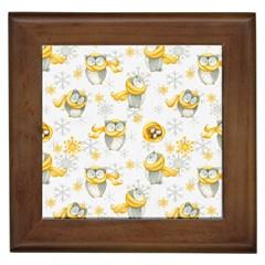 Winter Pattern 6 Framed Tiles
