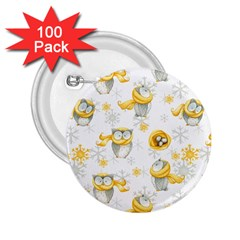 Winter Pattern 6 2 25  Buttons (100 Pack)