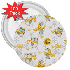 Winter Pattern 6 3  Buttons (100 Pack)