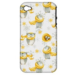 Winter Pattern 6 Apple Iphone 4/4s Hardshell Case (pc+silicone)