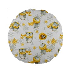 Winter Pattern 6 Standard 15  Premium Round Cushions