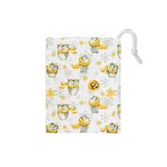Winter Pattern 6 Drawstring Pouches (small)