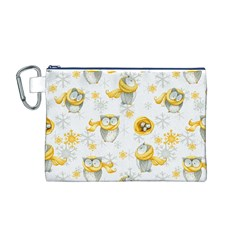 Winter Pattern 6 Canvas Cosmetic Bag (m)