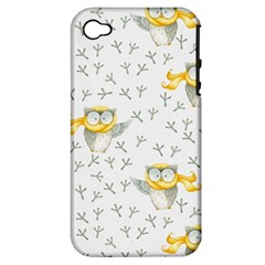 Winter Pattern 7 Apple Iphone 4/4s Hardshell Case (pc+silicone)