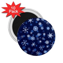 Winter Pattern 8 2 25  Magnets (10 Pack)