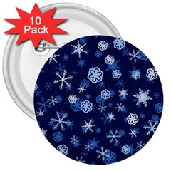 Winter Pattern 8 3  Buttons (10 Pack)