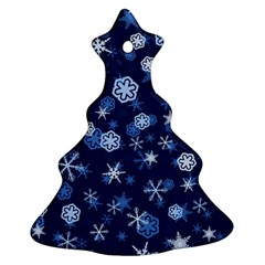 Winter Pattern 8 Christmas Tree Ornament (two Sides)