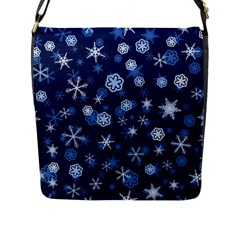 Winter Pattern 8 Flap Messenger Bag (l)