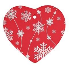 Winter Pattern 9 Ornament (heart)