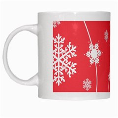 Winter Pattern 9 White Mugs