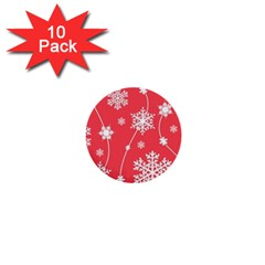 Winter Pattern 9 1  Mini Buttons (10 Pack)
