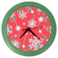 Winter Pattern 9 Color Wall Clocks