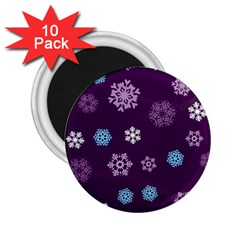 Winter Pattern 10 2 25  Magnets (10 Pack)
