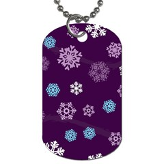 Winter Pattern 10 Dog Tag (one Side)